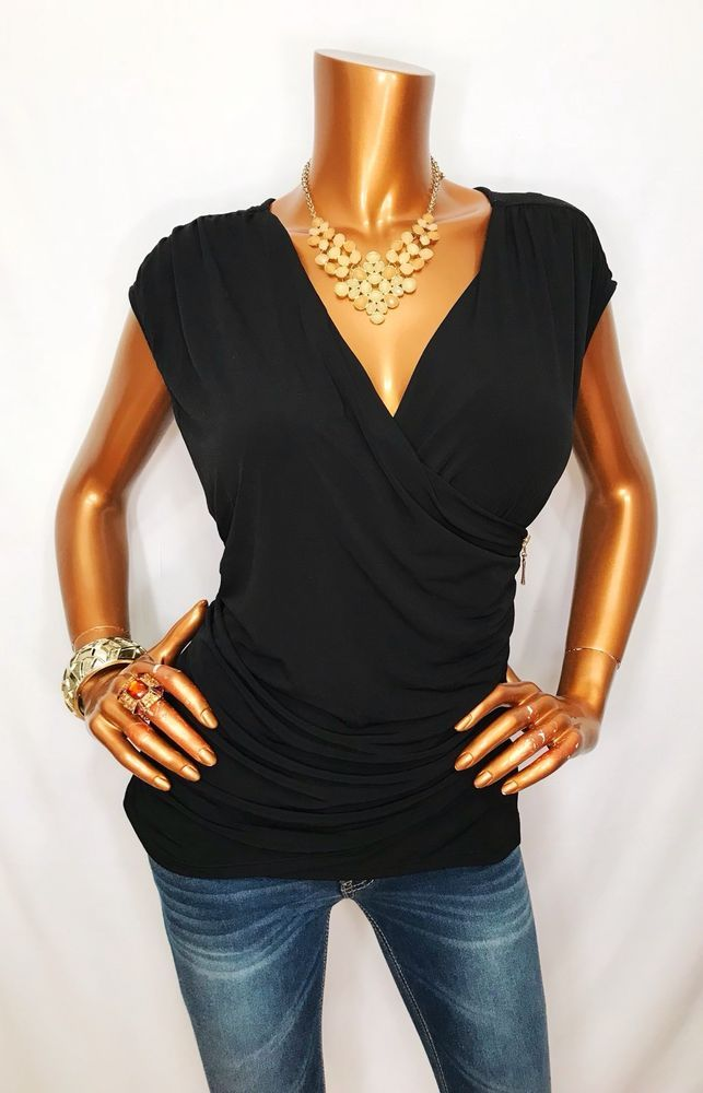 ELLEN TRACY Womens Petite Size Split Neck A-line Dress