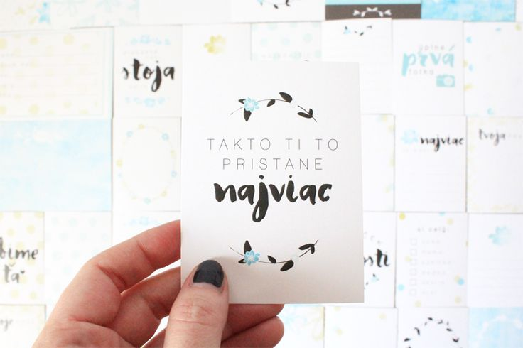 project life cards design // BABY CARDS // Pinned from luciabarabas.com by Lucia Barabas