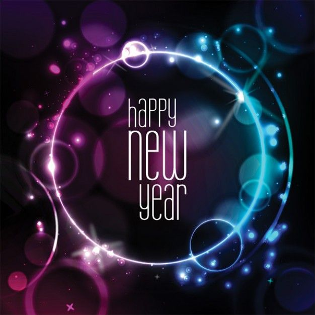 New year - Abstract shiny card