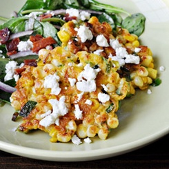 Corn cakes, Goat cheese and Goats on Pinterest