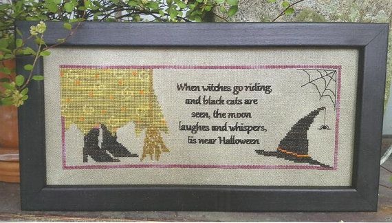 """SAMPLERS NOT FORGOTTEN """"Tis Near Halloween"""" 