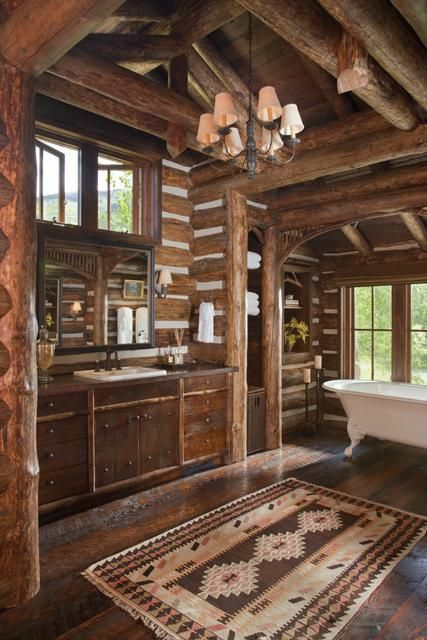 20 Extra Rustic Bathroom Designs 2