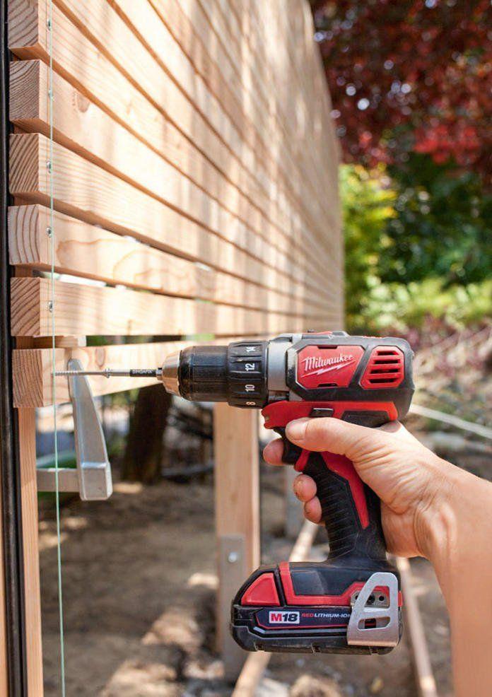 Sichtschutz aus Holz selber bauen