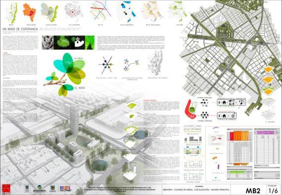 1er puesto. Concurso Plaza de la Hoja. MGP Arquitectura y Urbanismo.Plancha 1/6.
