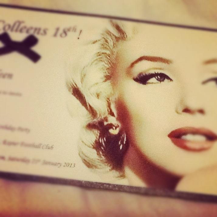 The gorgeous Marilyn Monroe 18th birthday party invitations