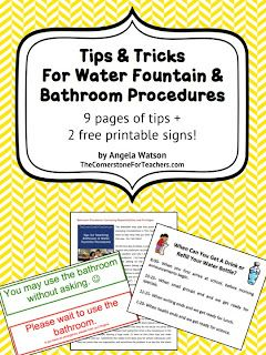 Classroom Freebies Too: How to teach bathroom procedures & water fountain procedures