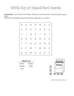 100th Day of School word search puzzle with a box of crayons. 4 levels of difficulty. Word search changes each time you visit