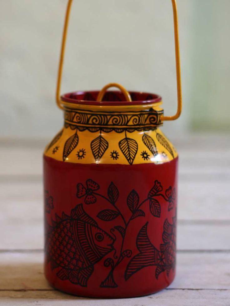 Madhubani Painting on a Can