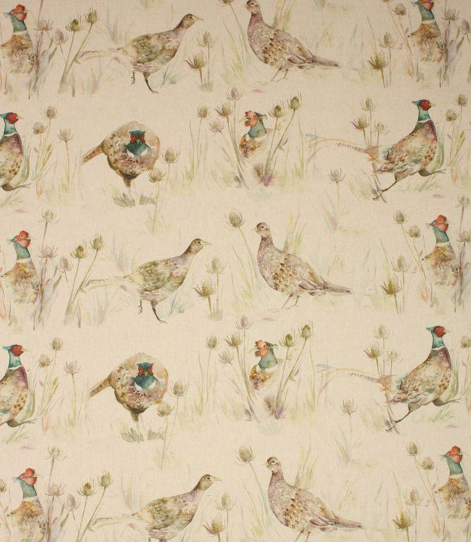 Voyage Decoration Bowmont Pheasants Fabric / Linen