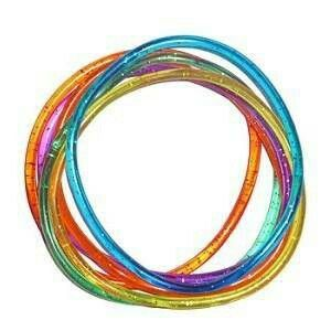 Jelly bracelets or shag bands as theyre now known!