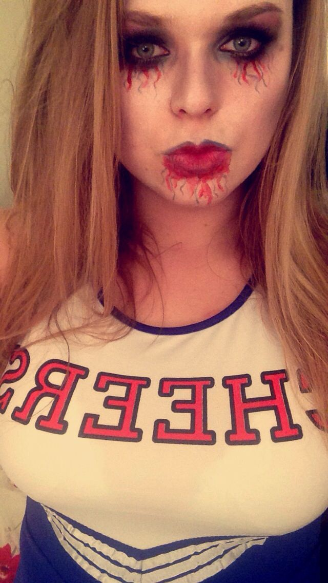 Zombie Cheerleader Halloween Make Up