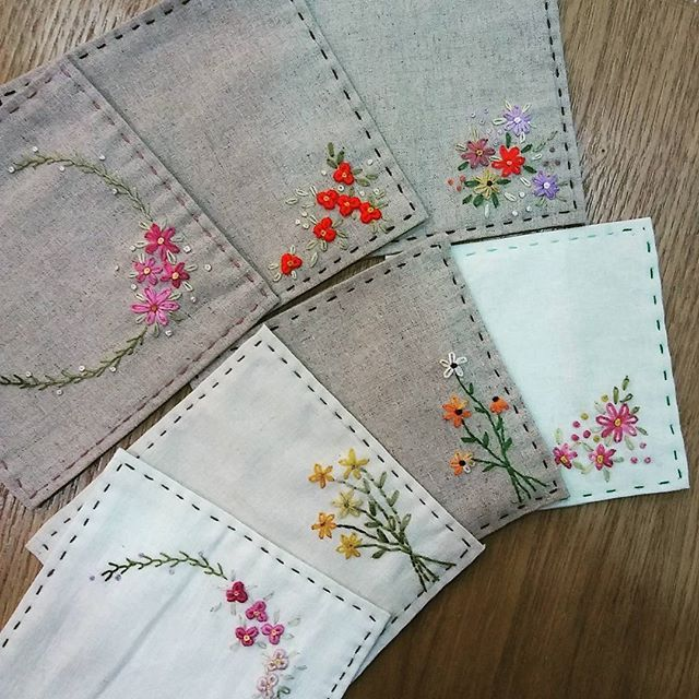 #Embroidery#stitch#needle work#tea coaster #프랑스자수#일산프랑스
