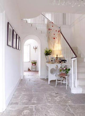 LOVE our stone floors......sooo work with animals afoot.............