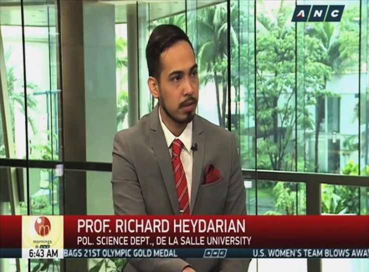 Prof. Richard Heydarian on China's post-arbitration strategy in South China Sea - ABS-CBN interview - http://www.dutertenewstoday.com/prof-richard-heydarian-on-chinas-post-arbitration-strategy-in-south-china-sea-abs-cbn-interview/