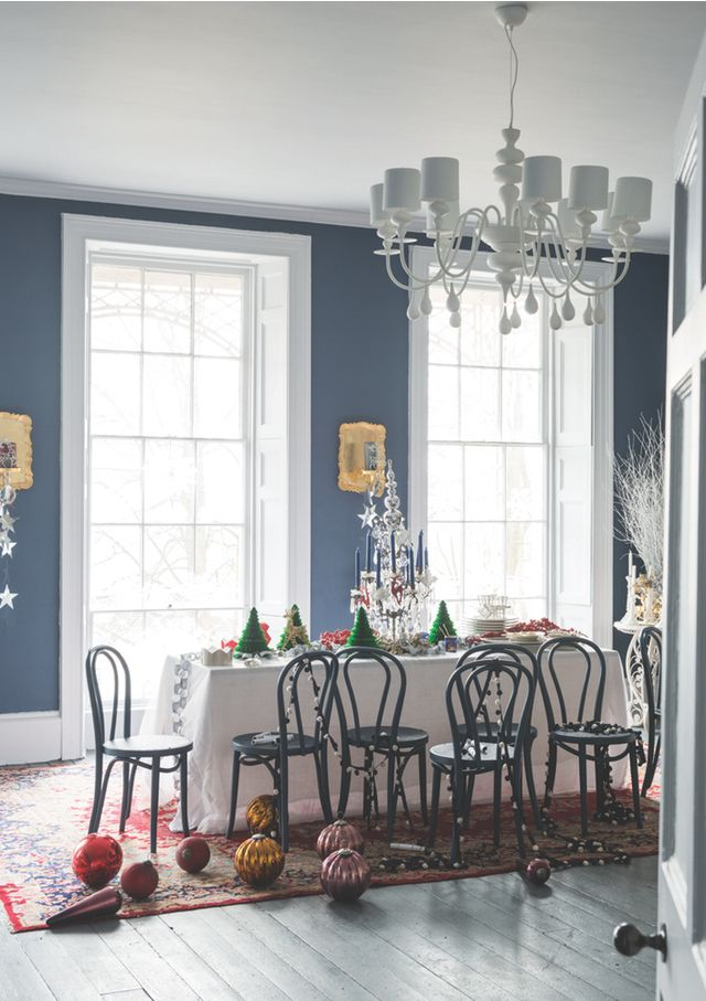 enchanting home office wall colors blue | Color Inspiration: Farrow and Ball's Enchanting Holiday ...