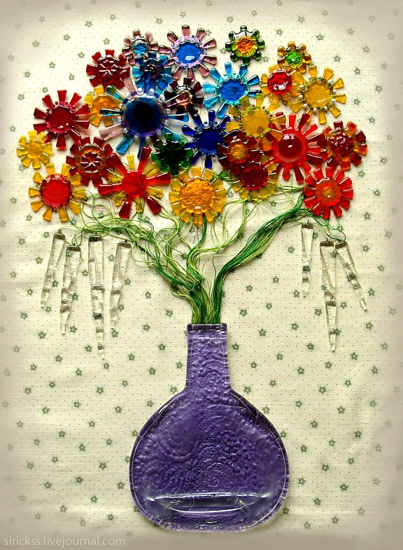 17 best images about fused and recycled glass projects on for Recycled glass art