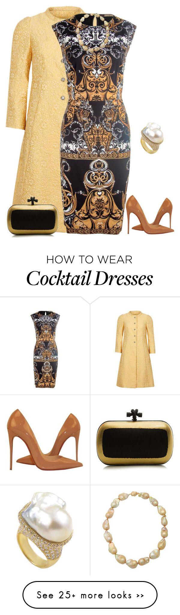 """outfit 2340"" by natalyag on Polyvore featuring Dolce&Gabbana, Jose Hess, Christian Louboutin and Bottega Veneta"