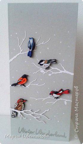 Открытка Поделка изделие Новый год Квиллинг Мои последние работы Бумага Бумажные полосы фото 1