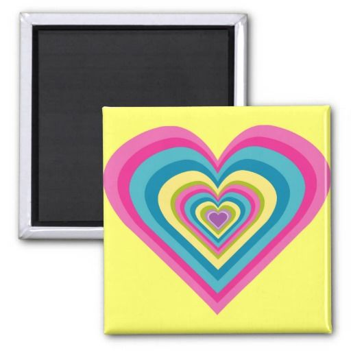 Cute Rainbow Heart Colorful Refrigerator Magnets 4 $4.25 -- click for sales!!!