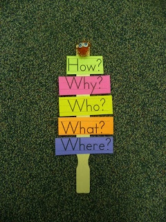 Classroom DIY: These question sticks help students think of questions to ask during reading and writing workshops.