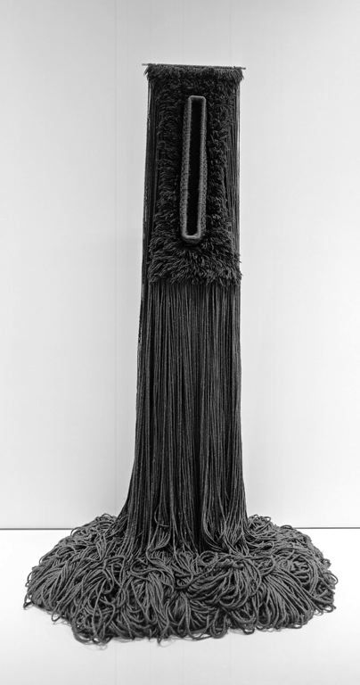 Freestanding Fiber Construction Entitled Black Tuesday | The Art Institute of Chicago