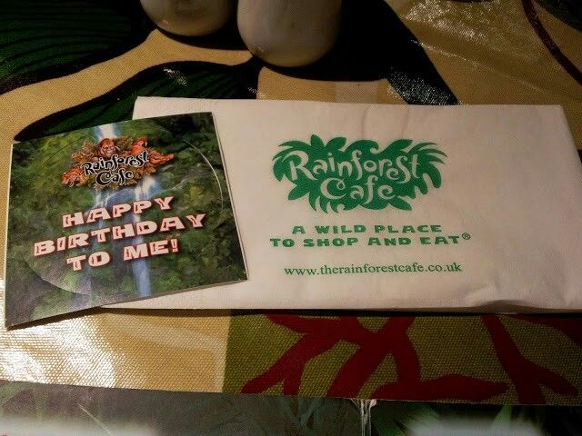 We hand out a birthday sticker to any guests who are celebrating with us... watch out though you may be sung to! http://www.therainforestcafe.co.uk/menus/kidsparties.asp