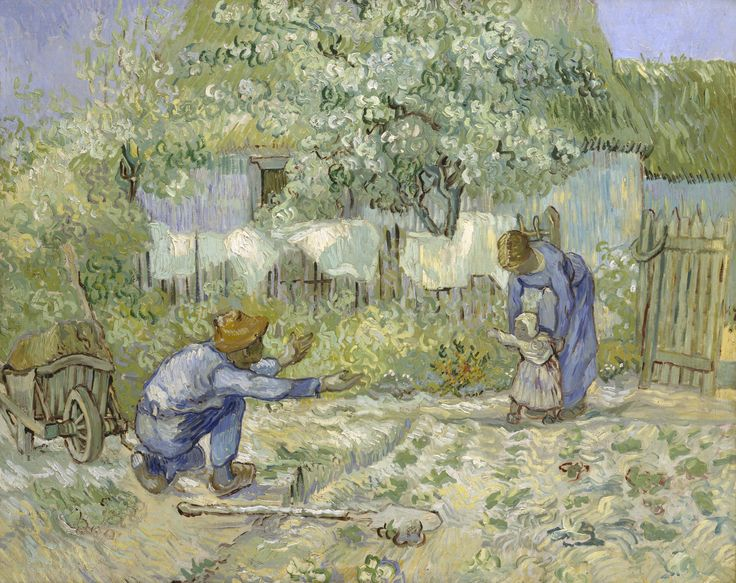 "Van Gogh, ""First Steps"". I've never seen this painting, how beautiful it is."