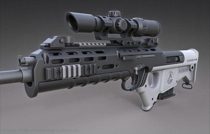 """ArtStation - Quicksilver Industries: """"Wildebeest"""" Rifle / DMR & SR, Christian Groß"""