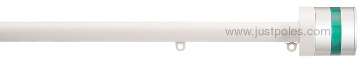 Silent Gliss Metropole 30mm, 6130 White, Crystal Cylinder Green