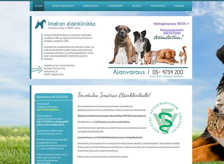 Imatran eläinklinikka sai uudet kotisivut Kotisivukoneen Avaimet käteen -palvelun avulla.
