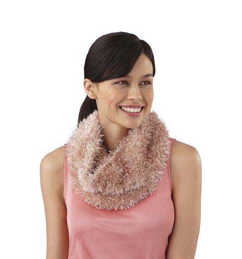 Loom-Knit Glitter Cowl