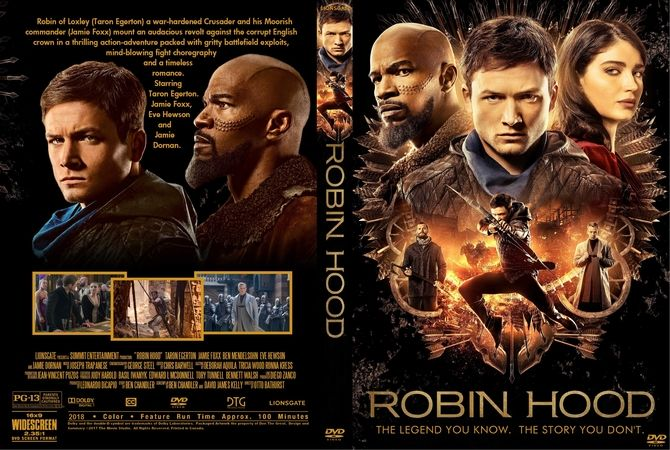 Robin Hood (2018) DVD Custom Cover | Custom DVD Cover Designs | Full
