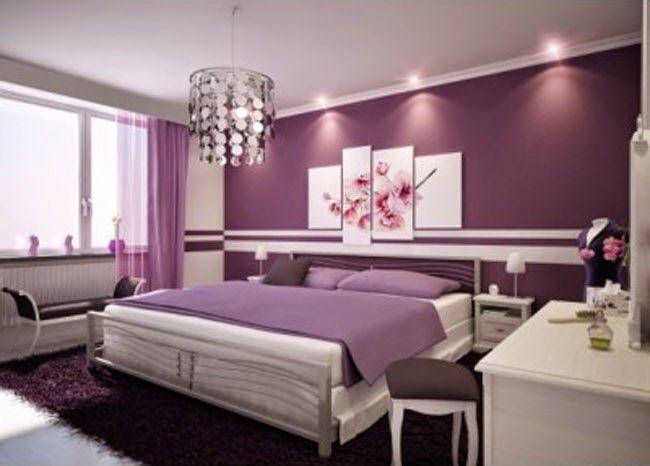 Interior Kamar Tidur Rumah Minimalis Cat Warna Ungu Yang Cantik   rumah-minimalis.web.id