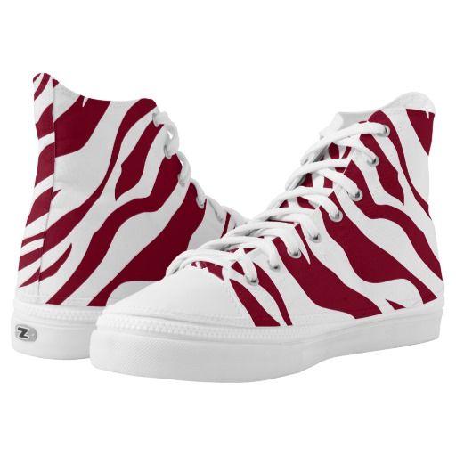 Wild Animal Zebra Burgundy Red White Stripe