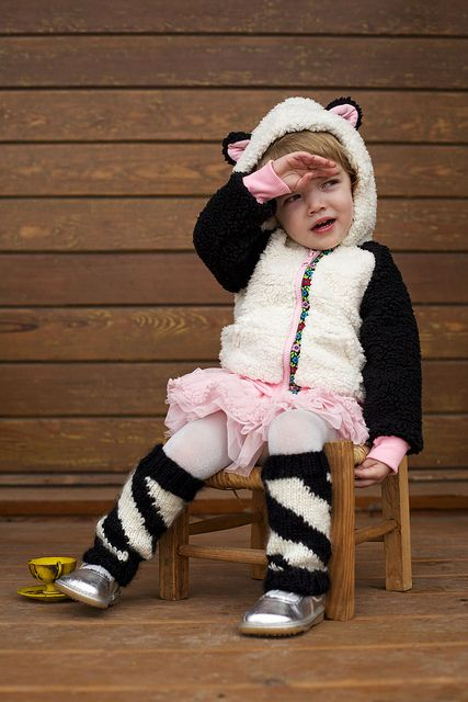 Wild Warmers  http://www.ravelry.com/patterns/library/wild-warmers  Yarn: Vickie Howell Sheep(ish) @Bernadette Tydlacka Yarns  Wearing Panda jacket by @Sara Christine Mini