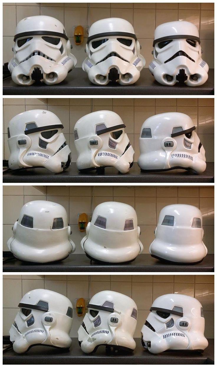 OT Stormtrooper Helmet Comparison: ANH vs. ESB vs. RotJ