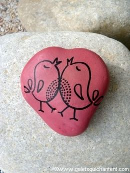 Oiseaux amoureux cœur