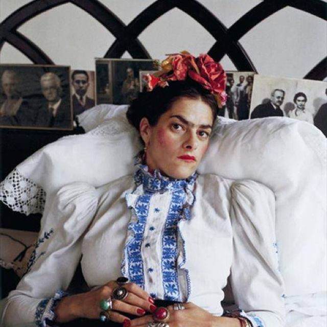 The brilliant Tracey Emin as Frida Kahlo, photographed by Mary McCartney.