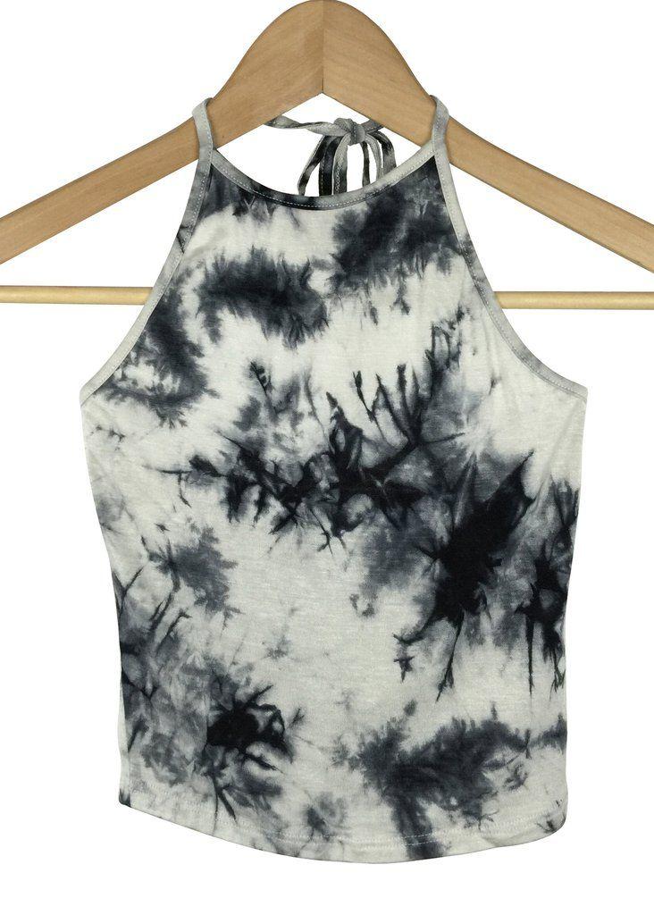 tie dye crop top (black)                                                                                                                                                                                 More