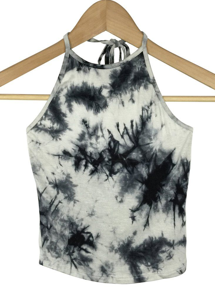 tie dye crop top (black)
