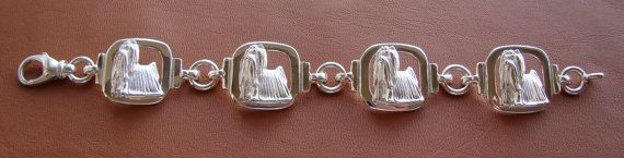 Sterling Silver Yorkshire Terrier Standing Study Bracelet