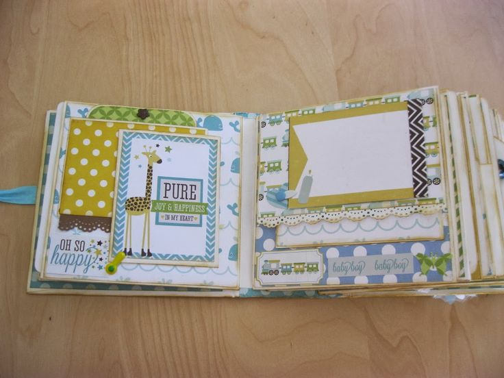 Creation with love: Mini Album for a Baby Boy - Bundle of Joy Echo Park (multi photos)