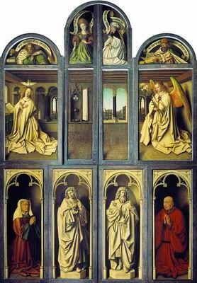 Гентский алтарь в закрытом виде. 1432 Ян ван Эйк