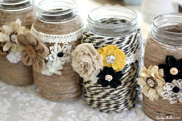 Arts and Crafts architecture was, like the movement itself, defined more by a set of ... traditional styles to create something that would not jar with its surroundings,  ... DIY Table Centerpiece with Rope and Mason Jars.