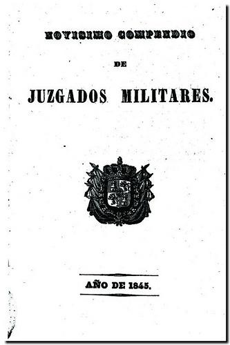 Novísimo compendio de juzgados militares de Colón, y