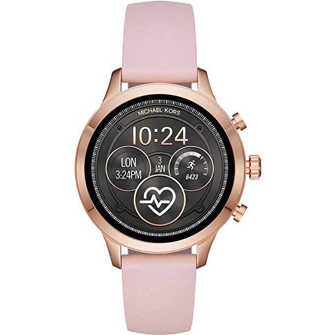Michael Kors Damen Smartwatch Mit Silikon Armband Mkt5048 Amazon De Uhren Handtaschen Michael Kors Leder Und Michael Kors Rose