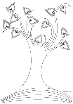 Trees of Life Coloring Pages