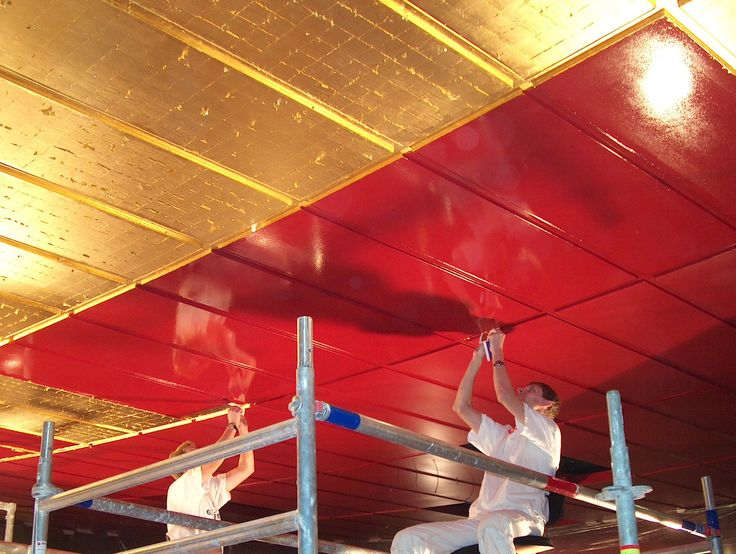 Guldloftet operaen. Forgyldning af loft  #opera #forgyldning #forgyldningloft #cmoellmannogco