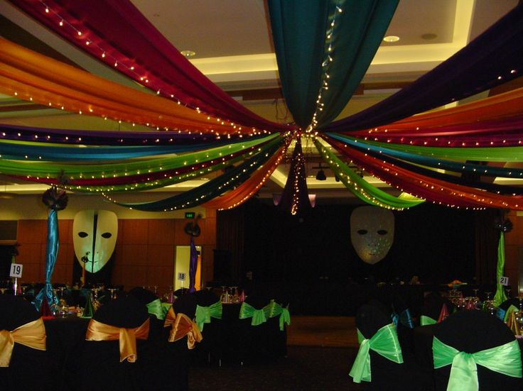 Masquerade Decorations Masquerade Ball Giant Masks And Coloured Strobe Lighting Complete The Masquerade Masquerade Party Decorations