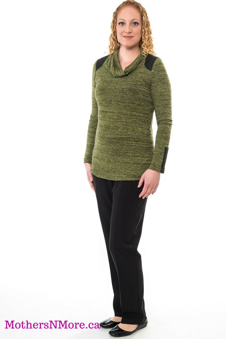 Comfortable Bellyssima light knit maternity sweater, with a cowl neckline. This top will keep you warm without the added bulk.  #Maternity #AffordableMaternityClothing